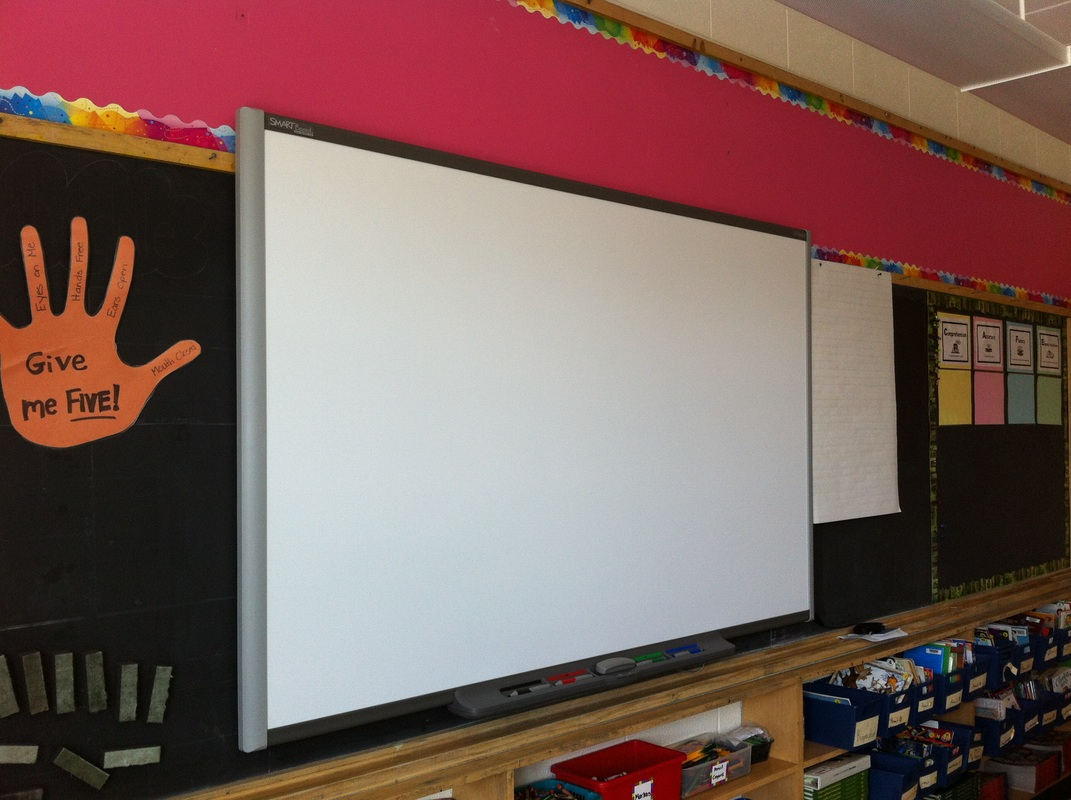 Interactive White Board installed in Ms. Teschow's Classroom