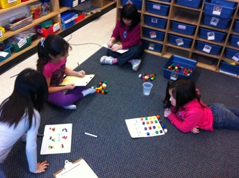 math manipulatives in action